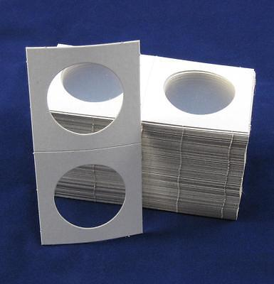 500 Cardboard 2.5x2.5 Coin Holder Mylar Flips for Silver Eagles and Crowns