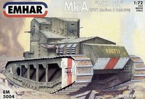 Emhar 5004 WWI British Whippet Tank 1/72 Scale Plastic Model Kit