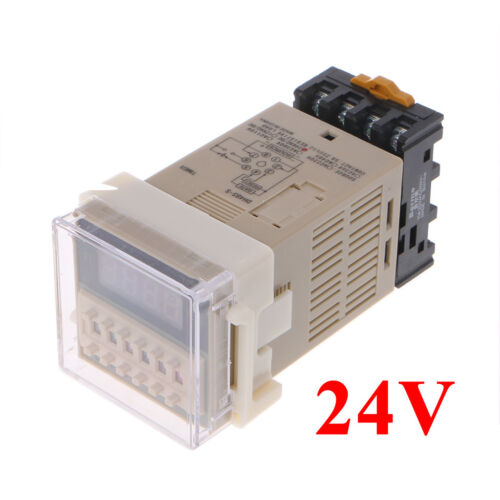 AC//DC 12//24V Multifunction Digital Timer Relay 8 Pins SPDT DH48S-S Repeat Cycle