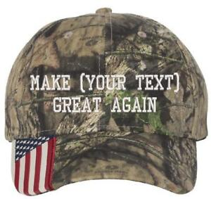 YOUR TEXT Custom Donal Trump Make America Great Again Embroidered ... e0f32b9797bc
