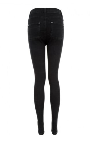 NEW Womens Heidi High Waist Rock Rip Skinny Jeans by SELECT
