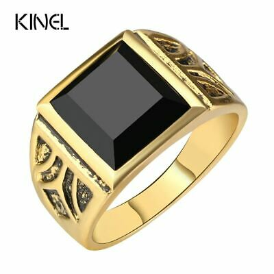Kinel Dubai Fashion Gold Color Ring Men Wedding Paty Accessories