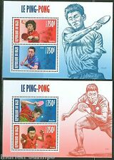 NIGER 2013  CHINESE PING PONG PLAYERS  SET OF TWO SHEETS    MINT NH