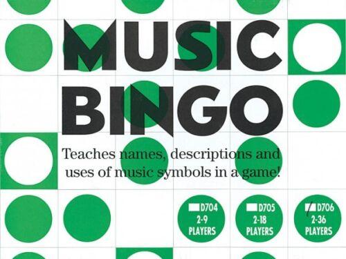 NEW 014022304 Music Bingo 2-36 Players