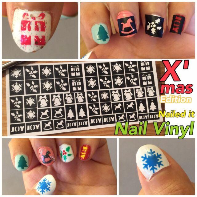 2016 DIY New Designs Nail Art Stencils Vinyl Decal Stickers Manicure ...