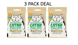 CATNIP-DROPS-X3-packs-of-50g-Cat-Treats-GOOD-GIRL-Flavoured-With-REAL-Catnip