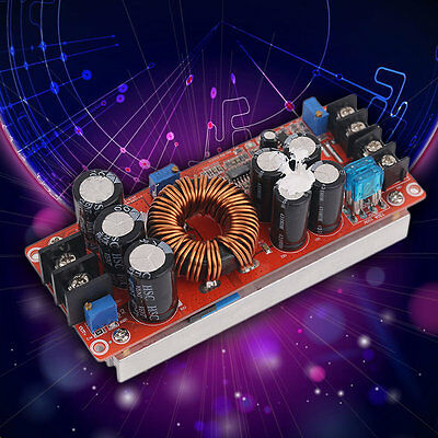 Hot 1200W DC-DC Boost Converter Power Supply 8-60V 12V Step Up to 12-83V 24V DP