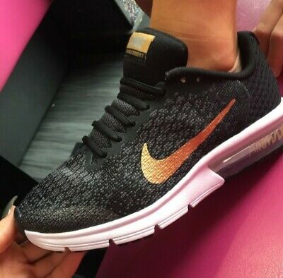 los angeles the best best loved NOUVEAU NIKE AIR MAX Sequent 2 Or Noir Running Gym Baskets Hommes ...
