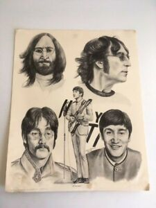 John Lennon Print 16x20 Pencil Drawing By Bill Markowski 1981 The Beatles Art Ebay