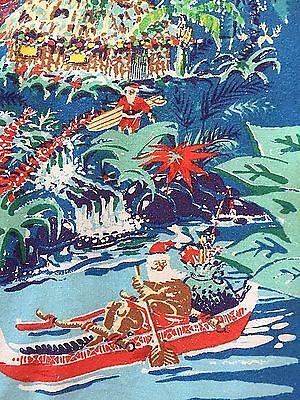 Large Padres Hawaiian Shirt John Severson Kahala Santa Christmas Boat San Diego