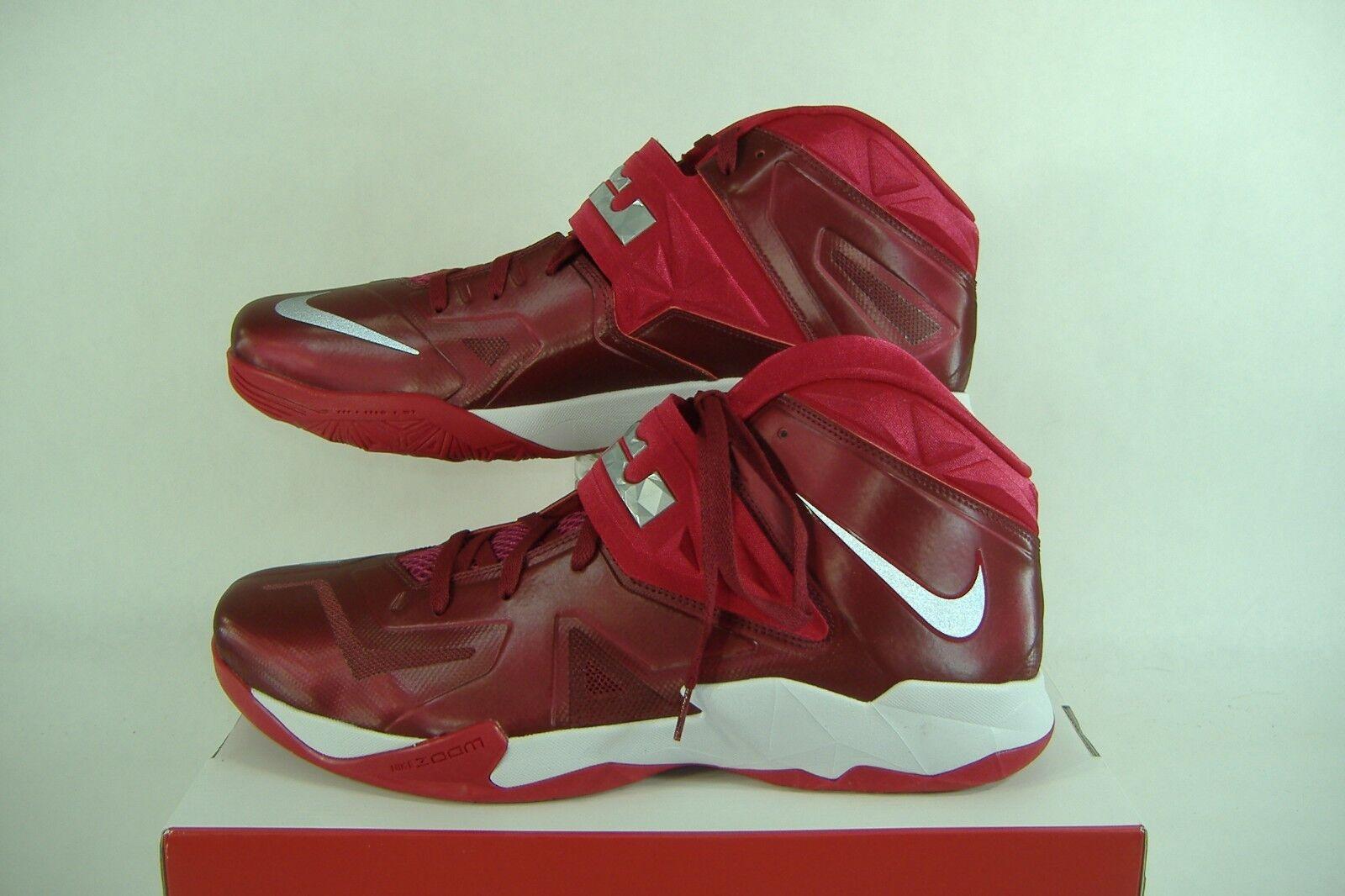 Uomo 18 nike zoom soldato vii lebron rosso e alte scarpe da basket 599263 145