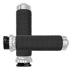 "1-3//8/"" Dia. MF-63-ANO Avon Memory Foam Grips Small Black Anodized Round"