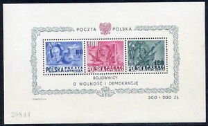 POLAND-1948-Presidents-block-MNH