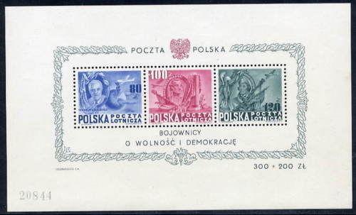 POLAND 1948 Presidents block MNH / **