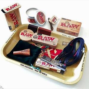 Raw Rolling Papers Gift Set Tray Tins Candle Double