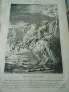 Hospitalier Un Croquis De Velasquez Gravure Old Print 1875 Beau Travail