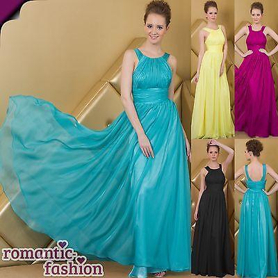 ♥Größe 34 bis 54 in 4 Farben Luxus Ballkleid, Abendkleid, seidiger Chiffon+NEU♥