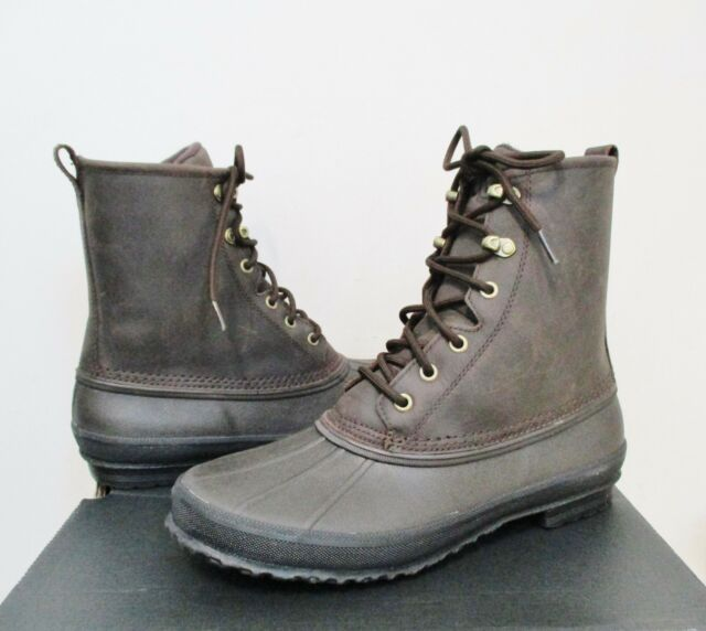 1cbadc1b245 UGG Men s YUCCA Duck Rain Boot 11.5US STOUT Brn Waterproof Leather NWB  120  MSRP