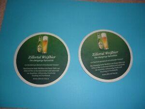 Bierdeckel.- Zillertal Weißbier (2 Stück - Außernzell, Deutschland - Bierdeckel.- Zillertal Weißbier (2 Stück - Außernzell, Deutschland
