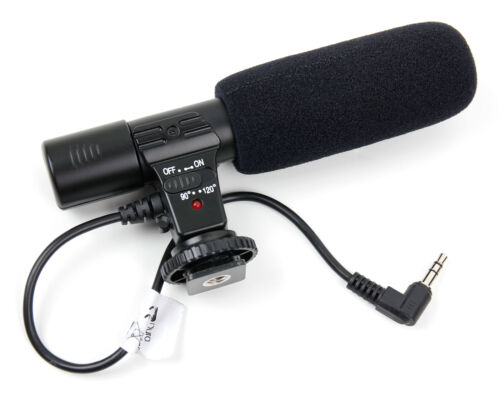Stereo SLR Camera Microphone for Canon EOS 5D Mark III EOS 7D Mark II EOS1D