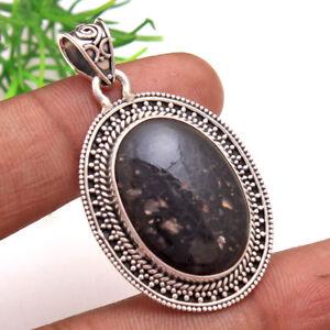 Dinosaur-Bone-Oval-Gemstone-Designer-Pendant-925-Sterling-Silver-Jewelry