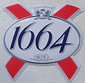 Placa-Metal-Publicidad-Cerveza-1664-Kronenbourg-40-X-40CM