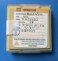 Tx5102j California Micro Devices Resistor Thin Film Asic 78/units Total