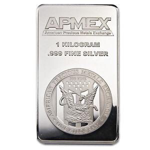 1 Kilo Silver Bar Apmex Struck Sku 77924 Ebay