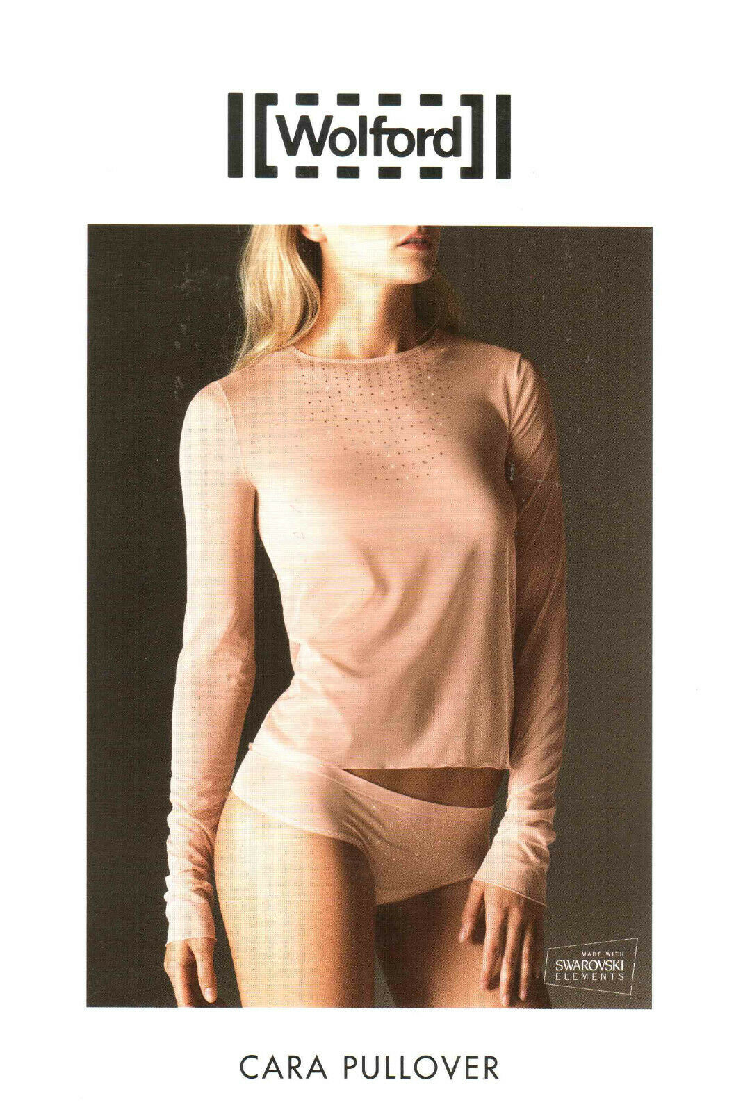 Luxe Pur  Wolford Pull CARA (59862), M, Bellini, NOUVEAU & NEUF dans sa boîte 195,00 os