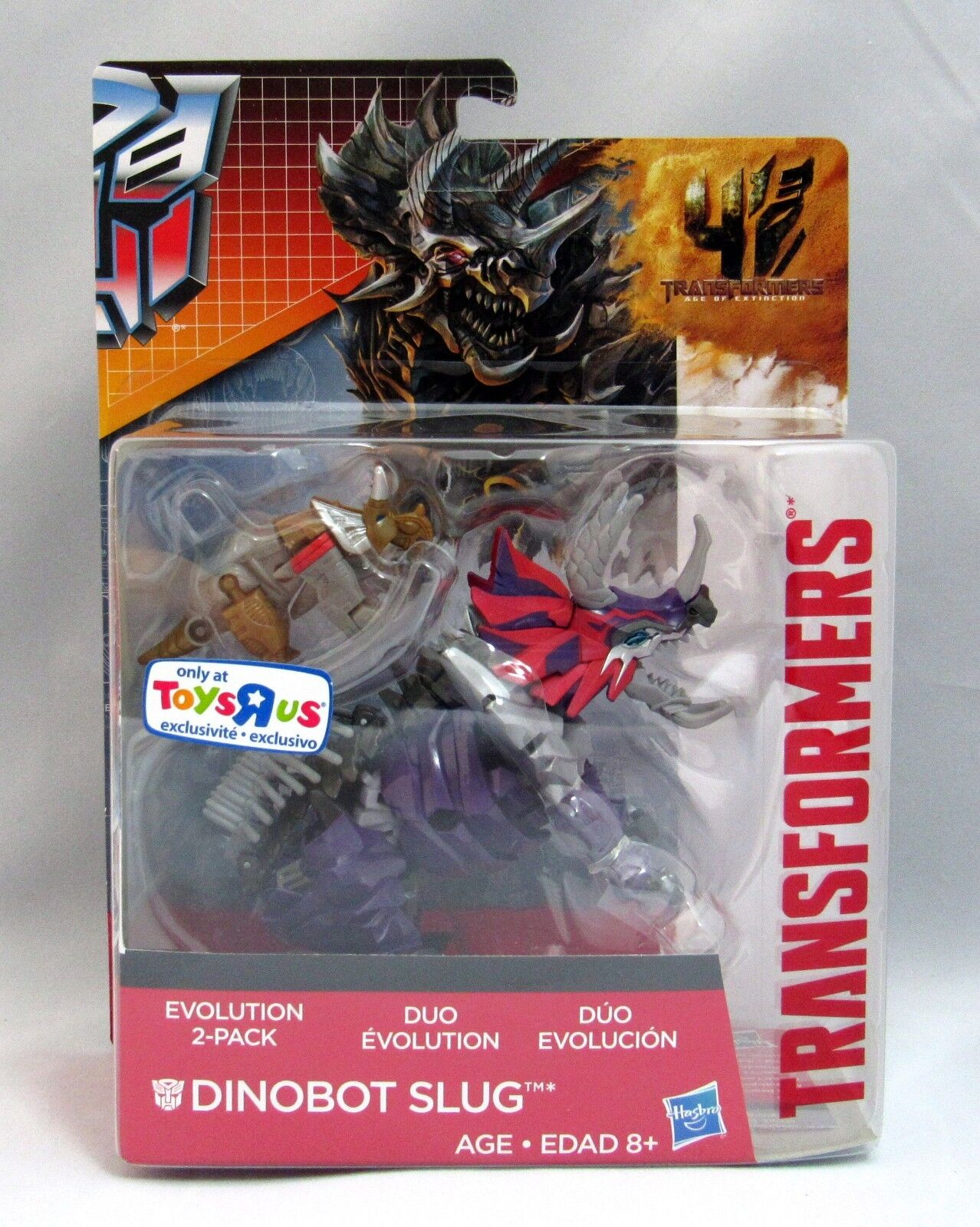 TRANSFORMERS AGE OF EXTINCTION DINOBOT SLUG TRU  TOYS R US EXCLUSIVE NEWMINT