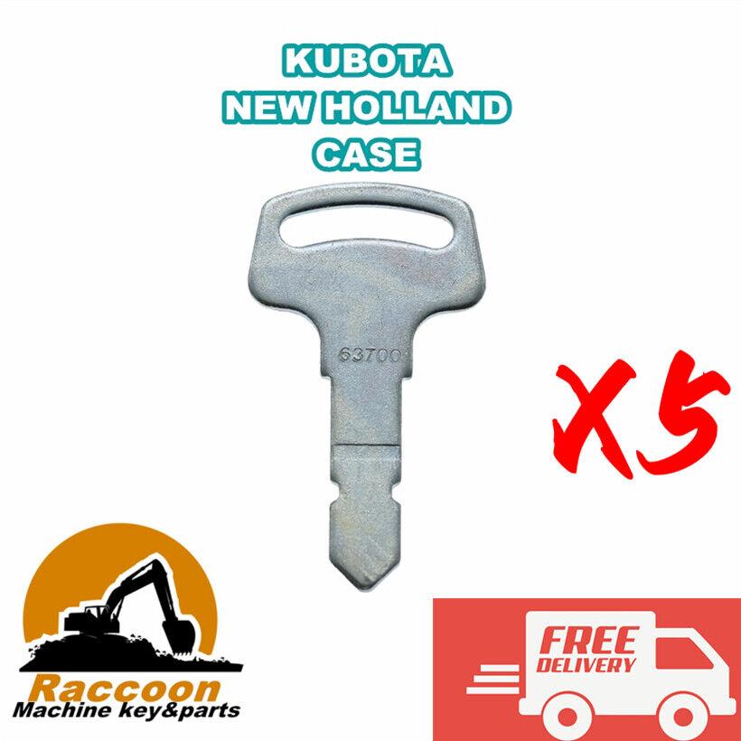 5pcs Fits Kubota B Series Tractor Keys 15248-63700 6c040-55432 Case New Holland