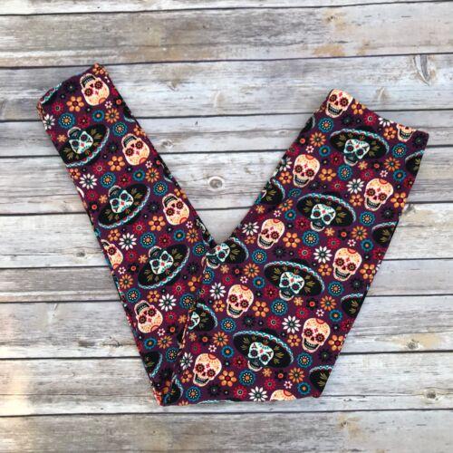 Flower Mariachi Sugar Skull Day of the Dead Women/'s Leggings TC Plus Size 12-20