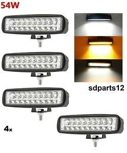 4x-Lampade-Luci-Barra-Marcia-Diurna-DRL-Indicatori-18-Led-54w-Camion-Trattore