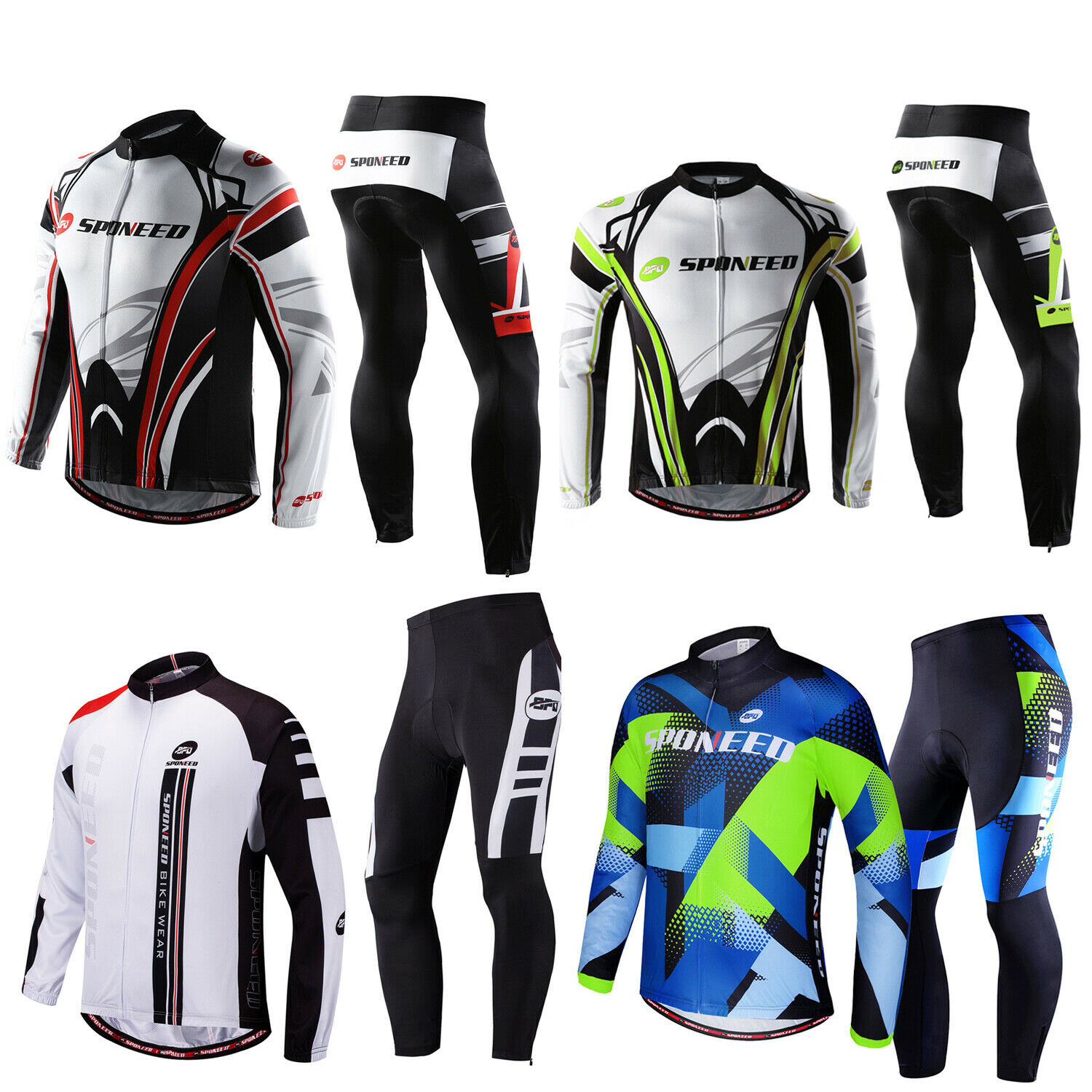 Cycle Jersey Pants Sets Men Bike Shirt Cycling Trousers Padded  Outfits 4 colors  be in great demand