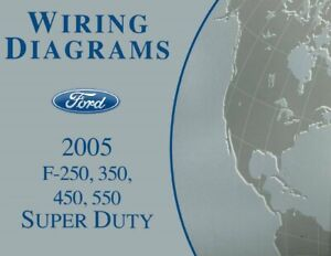 Details zu 2005 Ford F250-F550 Super Duty Truck Electrical Wiring Diagrams on