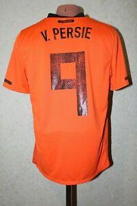 Netherlands Holland Football Shirt Soccer Jersey 2010-2012 Size M #9 v. PERSIE