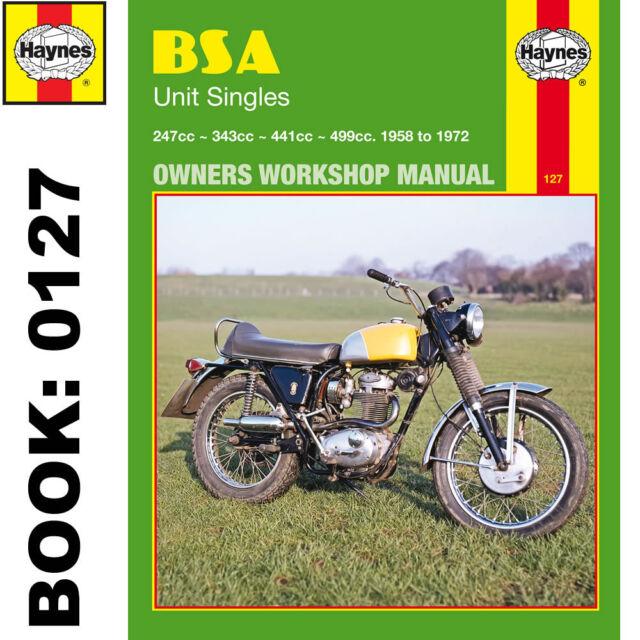 bsa c15 b25 b44 b50 unit singles haynes workshop manual b40 1958 72 rh ebay co uk bsa b44 shop manual bsa b44 workshop manual