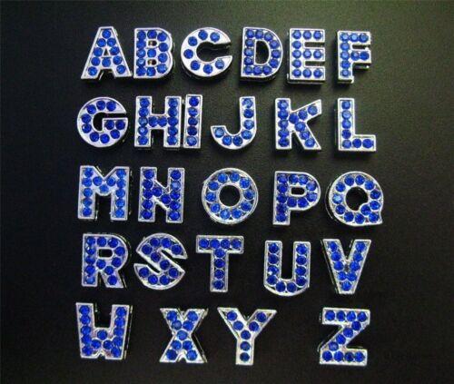 Wholesale Mix Style 8mm Slide Letters A-Z Fit DIY Pet Name//pet Collar//Wristband