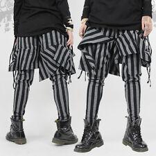 Japanese Harajuku Vertical Stripes Irregular Pants Punk Lolita Knitted Trousers