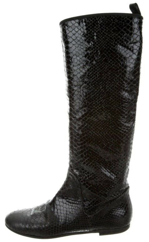 Giuseppe Zanotti embossed black leather boots size 9   39 STUNNING made in