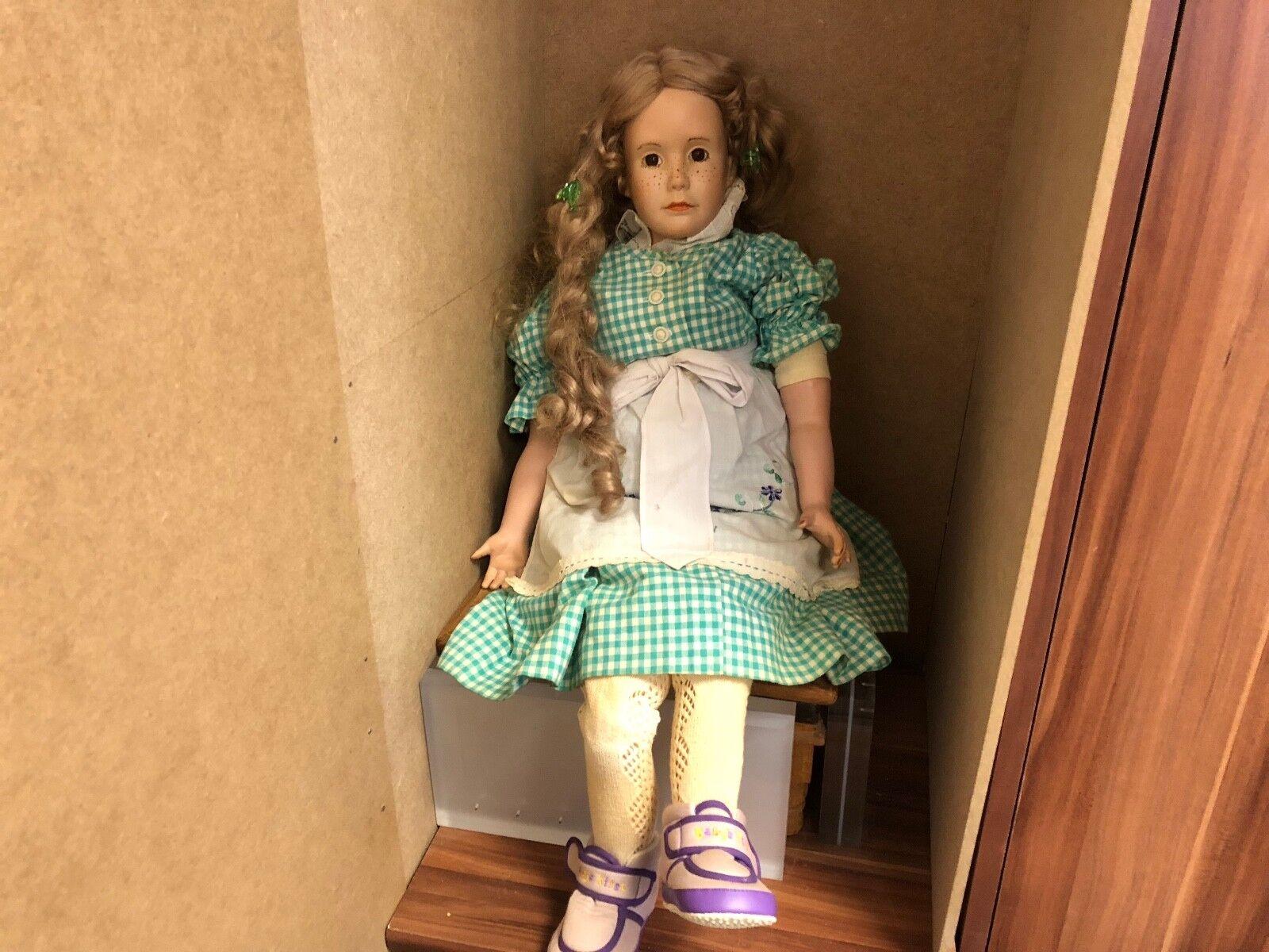 Künstlerpuppe Porzellan Doll 81 cm. Top Zustand
