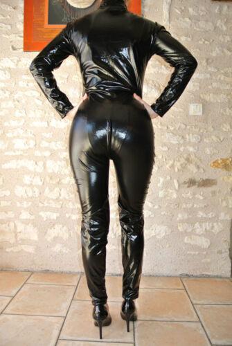 2 Uko lucido Tu Nero Overall s Catsuit Allacciato Way Wetlook Suit 382 Sexy qwAHX0