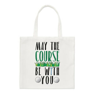 May-The-Course-Be-With-You-Small-Tote-Bag-Golf-Father-039-s-Day-Shoulder