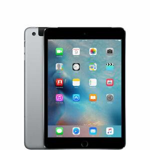 Apple iPad Mini 4 128GB, Wi-Fi + Cellular (Unlocked), 7.9in - Space Grey