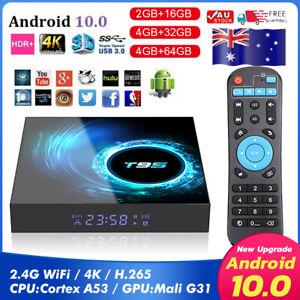 T95 Android 10.0 TV Box 4GB+16/32/64GB Quad Core HD 6K HDMI WIFI Media Player AU