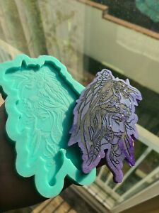 For Resin Art skull and raven silicone mold Lady