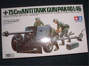 35047-Tamiya-1-35-Deutsche-7-5cm-PAK-40-L46-WWII-GMK-World-War-II-Plastikm