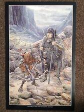 Lord Of The Rings Vintage PRINT Fantasy Art Alan Lee Tolkien TWO ORCS SHADOW HTF
