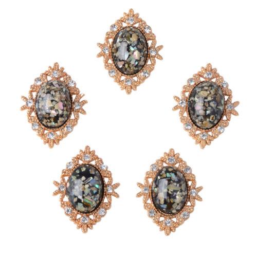 Oval-Cabochon-Acryl-Kristallknöpfe für die Schmuckherstellung