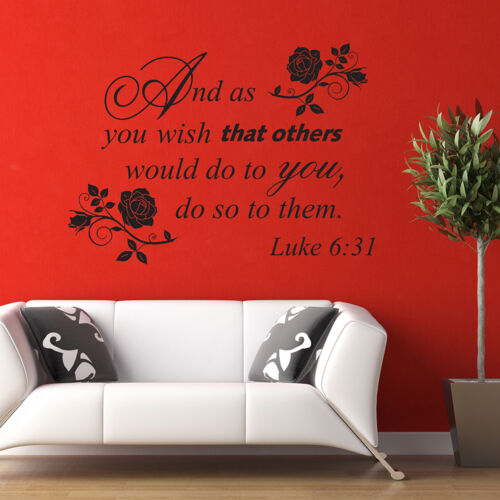 And as you wish that others would do to you Wall Quote Decal Bible Luke 6:31